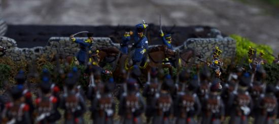 Charge des Dragons Prussiens au 1/72