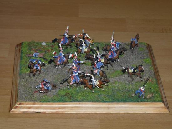 Lanciers Polonais contre cavalerie Russe au 1/72