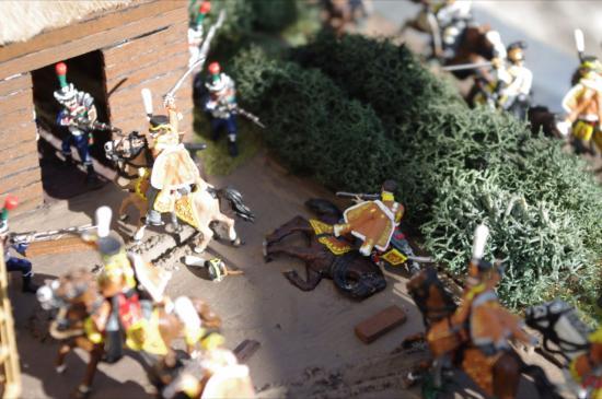 Hussards Russes contre infanterie légère Française au 1/72