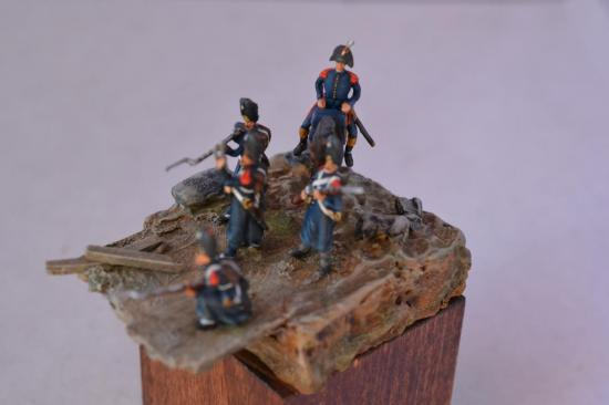 Grenadiers de la Garde Impériale en manteau au 1/72