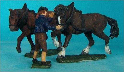 JS72/0409 Paysan et ses chevaux de laboure