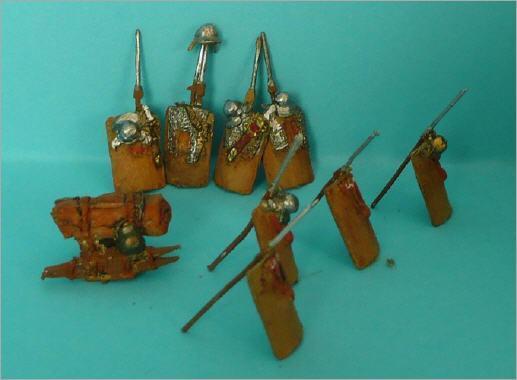 JS72/0093 a & b détail des pièces Campement Romain par Art Miniaturen