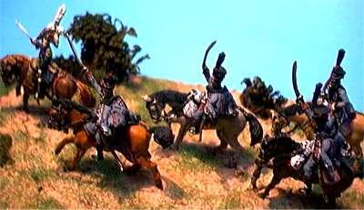 Général Colbert et les hussards du 3ème à Iena par Marc Claus