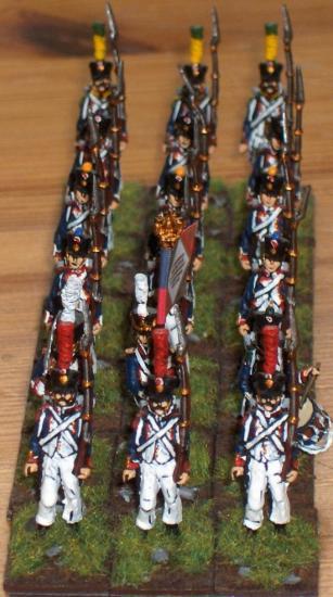 Régiment d'infanterie Français au 1/72ème
