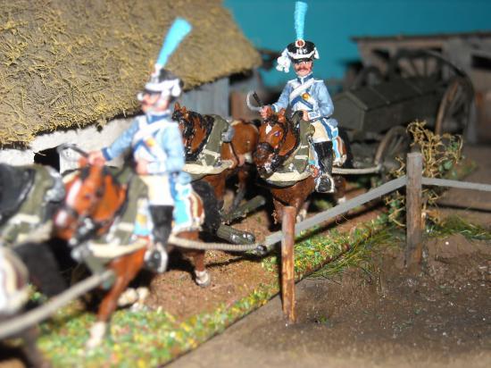 Photo Marc Claus: chariot à munition type Gribeauval campagne de Russi