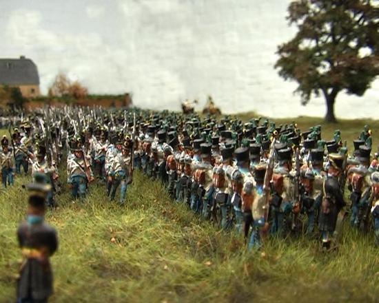 Croebern 1813 Les Autrichiens passent à l'attaque