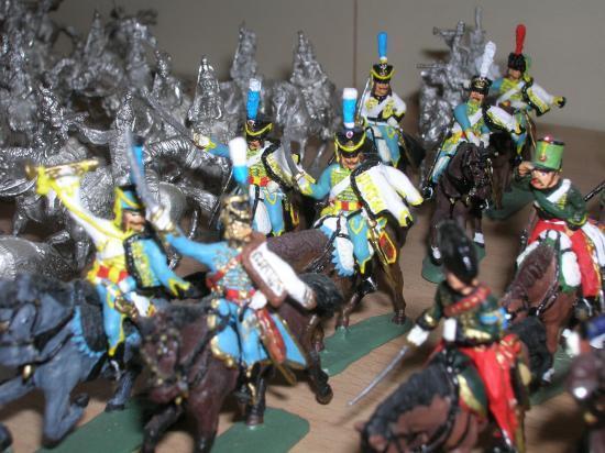 5ème de Hussards chargeant ....