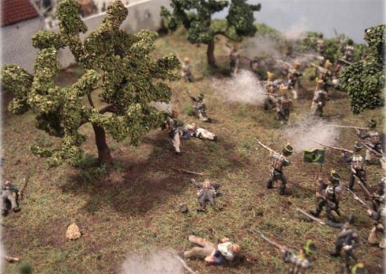 Assaut-Sturmangriff de-auf La Haye Sainte um 18 uhr am 18.06.1815