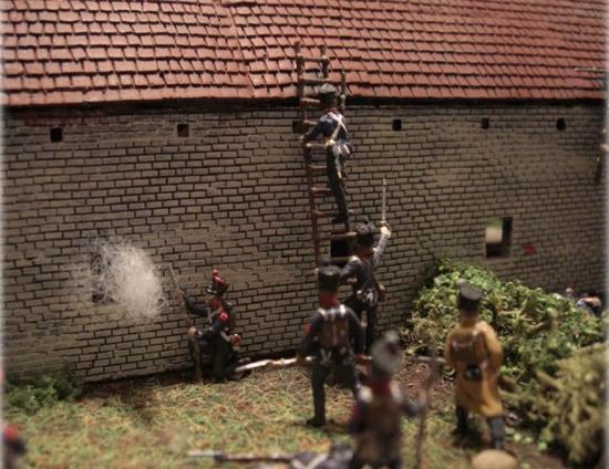 Prise de la Haye Sainte le 18 juin 1815 vers 18h par Frank Herberger-Frevert