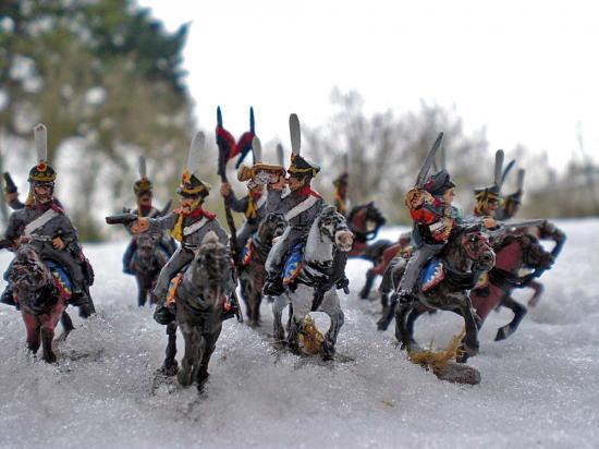 Hussards Russes Strelets en manteau par Stéphane Brunet