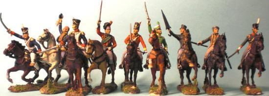 AP028 Waterloo 1815: Officiers à Cheval peinture Stéphane Brunet comme toujours superbe