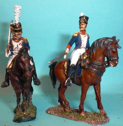 AP028 Waterloo 1815: Officiers à Cheval avec figurine Art Miniaturen peinture Stéphane Brunet comme toujours superbe