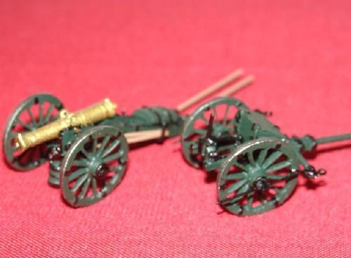 Avant Train d'artillerie légère et Canon de 12 léger Artillerie Russe par J-F Ducos
