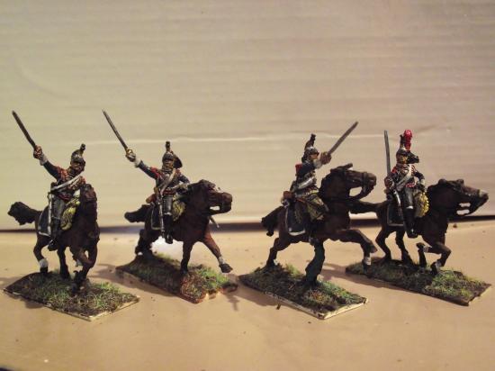 Cuirassiers Français Art Miniaturen Chargeant au 1/7ème par Didier Chagnon