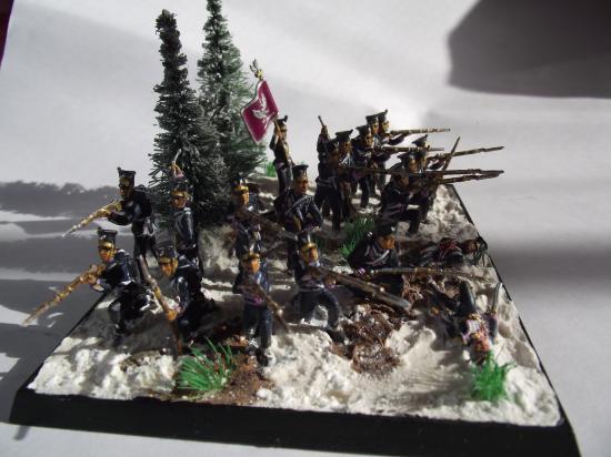 Infanterie Polonaise dans les neiges de ...