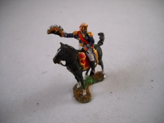 JS72/0163 Maréchal Davout à cheval saluant Art Miniaturen