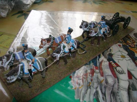 Train d'artillerie Art Miniaturen belle réalisation de Jean-François Ducos