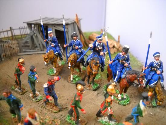 JS 72/0530 13 Prisonniers de guerre français (Dragon de la garde, cuirassiers polonais, Uhlan polonais, Chasseurs à cheval fran