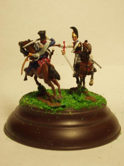 Art Miniaturen réf:JS72/0461 Chevaux Légers Lanciers de la GI contre Cuirassier Russe Zvezda