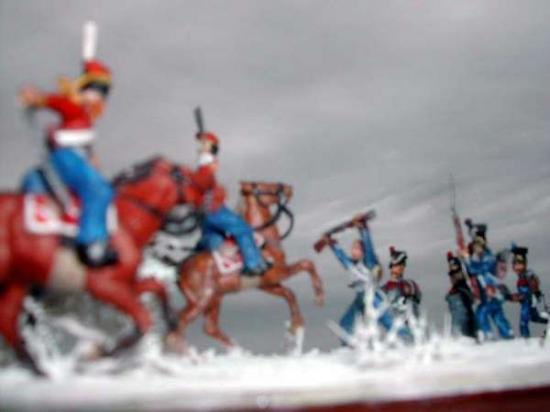 Hivers 1812: Affrontement entre Cosaques et Polonais par Stéphane Brunet