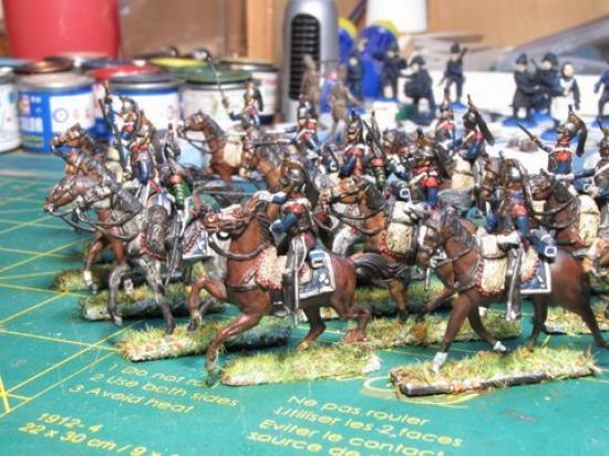 Cuirassiers Legio avec cheval Italeri par Didier Chagnon excellentes réalisations comme toujours