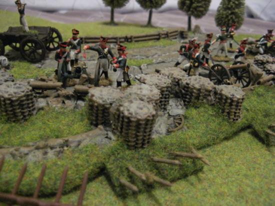 une redoute imex avec ses servants et canons bataille de borodino 1812