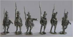 JS72/0635 6 sous-officiers de Fusiliers Austro-Hongrois (1806-1815), avançant-Österreichische-Ungarische Füsiliere (1806-1815), Unteroffiziere, vorgehend, 6 figuren