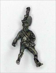 JS72/0638 1 soldat du Train autrichien (1813-1815), avec chapeau corse, la tête tournée vers la droite-Österreichischer Trainsoldat (1813-1815), mit Kortsenhut, den kopf nach rechts gedreht, 1 figur