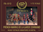 FA-010 : FRENCH MARINS DE LA GARDE COMMAND metal