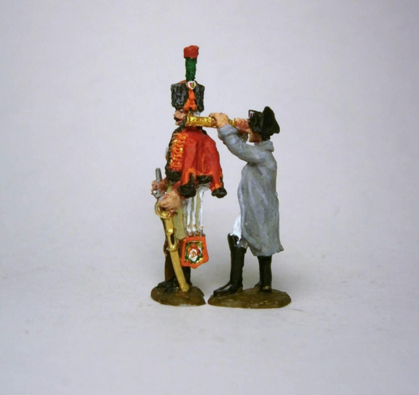 MC007 - Napoléon avec longue vue et Chasseur à cheval  1/72