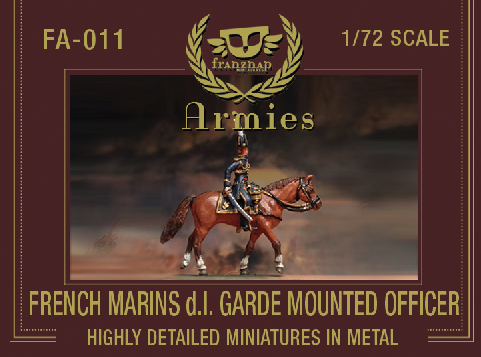 FA-011 : FRENCH MARINS DE LA GARDE MOUNTED OFFICER metal