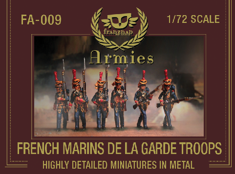 FA-009 : FRENCH MARINS DE LA GARDE TROOPS metal