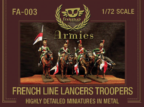 FA-003 : FRENCH LINE LANCERS TROOPERS metal